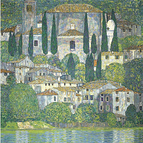 卡頌的教堂 Church in Cassone (landscape with cypress)