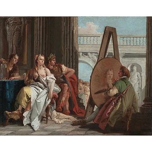 亞歷山大和坎帕斯比在阿佩萊斯的畫室 Alexander the Great and Campaspe in the Studio of Apelles